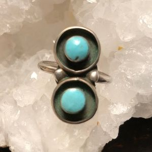 Jewelry - Vintage Turquoise Double Shadow Box Ring